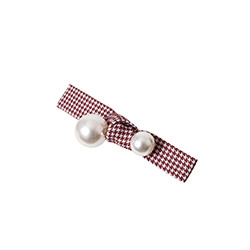 Pearl Hound Tooth Check Pin