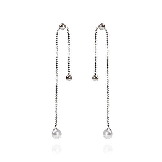 Chain pearl drop