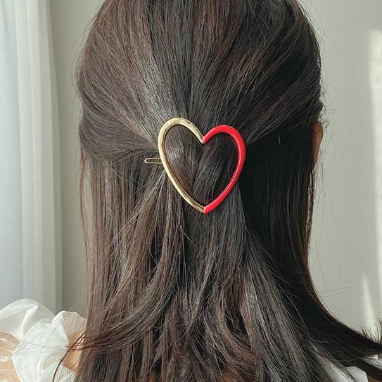 Half heart hairpin