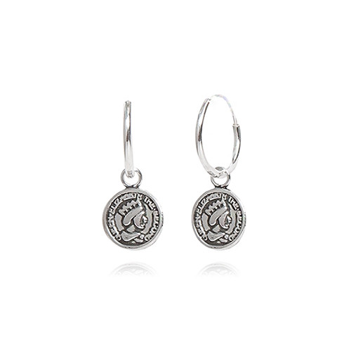 S925_Coin Earring