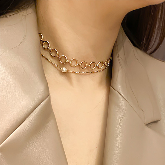 (2set) With Pearl Necklace