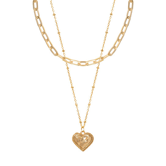 (2set) Heart coin&Chain Nacklace
