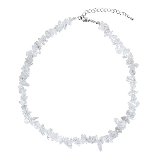 White Bold Crystal Necklace